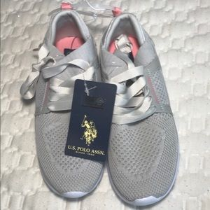 U.S.POLO sneakers for girl size 12.5 gray